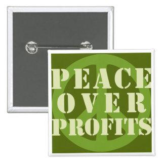 peace profits round button