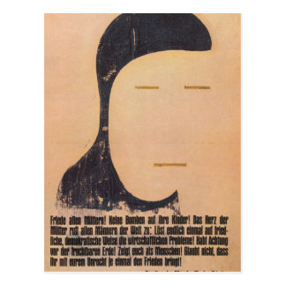 Peace Propaganda Poster Postcard