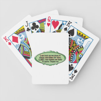 Peace, Psalm 4:8 Bicycle Playing Cards