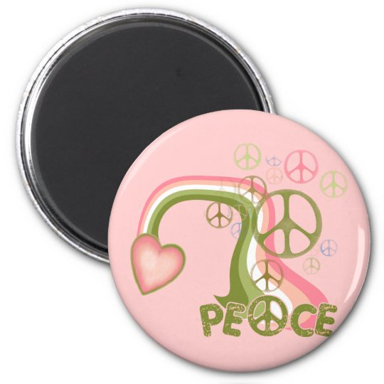 Peace Rainbow 2 Inch Round Magnet