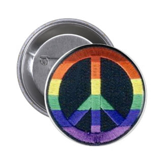 peace-rainbow pinback buttons