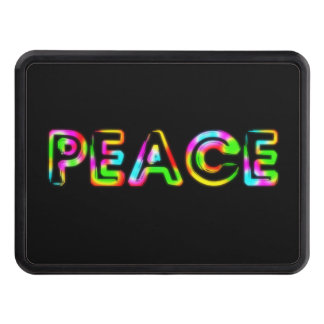 PEACE RAINBOW TOW HITCH COVERS