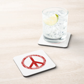 peace red Faded.png Drink Coaster