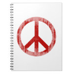 peace red Faded.png Spiral Note Book