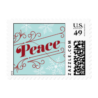 Peace - Red & Light Blue Postage