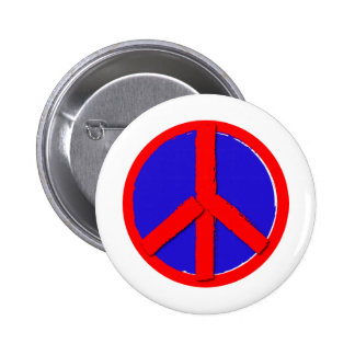 Peace - Red, white and blue Pinback Buttons