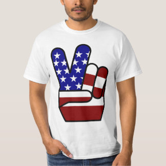Peace - Red White & Blue T-Shirt