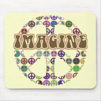 Peace - Retro Peace Sign Mouse Pad
