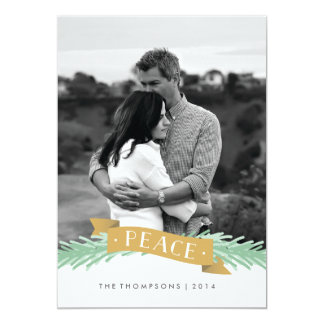 Peace Ribbon Holiday Photo Card