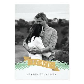 Peace Ribbon Holiday Photo Card