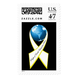 Peace Ribbon Postage Stamp