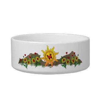 Peace Rising Pet Bowls