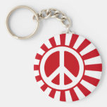 Peace Rising Sun Key Chains