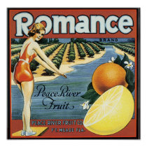 Peace River Fruit Company Crate Label - Poster