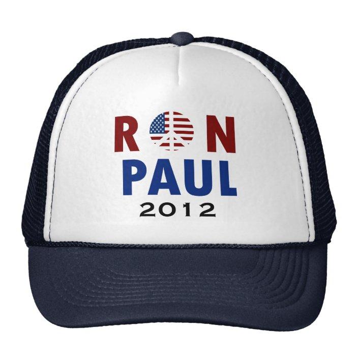 Peace Ron Paul 2012 Trucker Hat