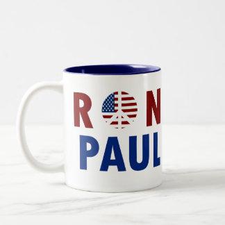 Peace Ron Paul 2012 Two-Tone Coffee Mug