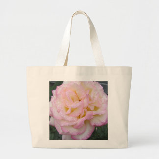Peace Rose, after the rain. Canvas Bags