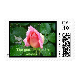 Peace Rose Bud Postage Stamps