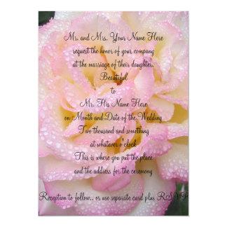 Peace Rose invitation. Card