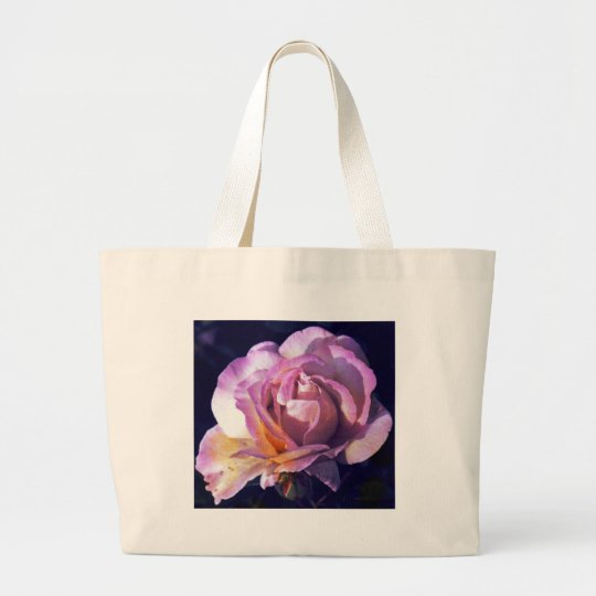 peace rose large tote bag