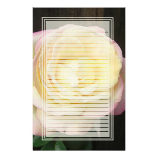 Peace Rose Lined Stationery