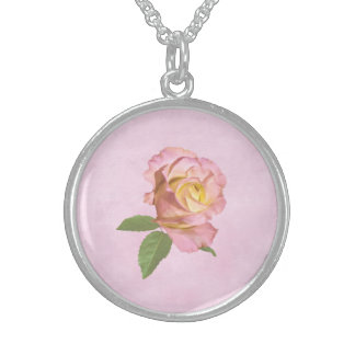 Peace Rose Personalized Necklace