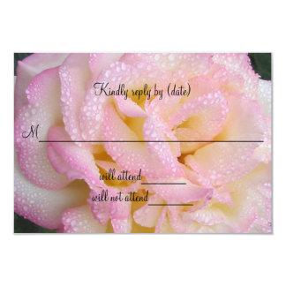 "Peace Rose response card. 3.5"" X 5"" Invitation Card"