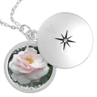 Peace Rose Round Locket Necklace