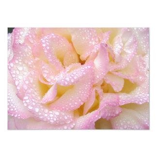 Peace rose Save the Date! 4.5x6.25 Paper Invitation Card