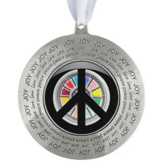 Peace Round Ornament