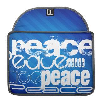 Peace; Royal Blue Stripes Sleeve For MacBooks