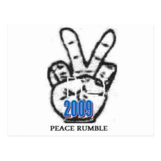 Peace Rumble Store Logo Postcard