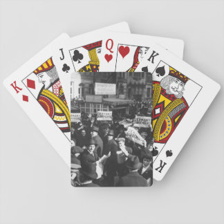 Peace rumor, New York.  Crowd at Times_War Image Card Decks