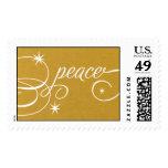 Peace Script - 24 KT Stamp
