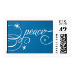 Peace Script - Peacock Postage