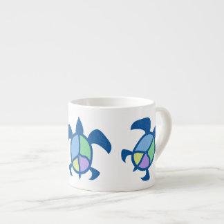Peace Sea Turtle Espresso Mug