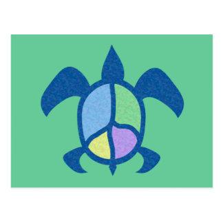 Peace Sea Turtle Notes Card
