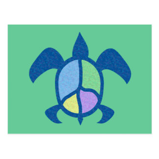 Peace Sea Turtle Unlined Notes Card Post Card