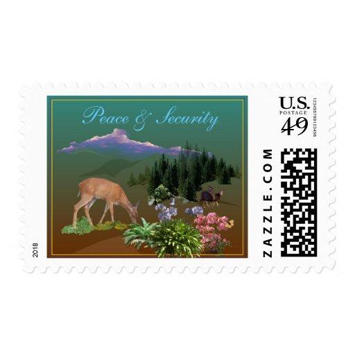 Peace & Security Series Deer- M Stamps