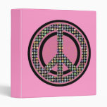 "PEACE SEQUINED PINK 1"" Ring Binder"
