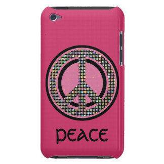 PEACE SEQUINED PINK iPod Touch Case-Mate Case