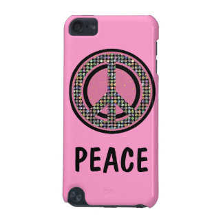 PEACE SEQUINED PINK iPod Touch Speck Case iPod Touch 5G Covers