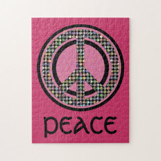 PEACE SEQUINED PINK Puzzle