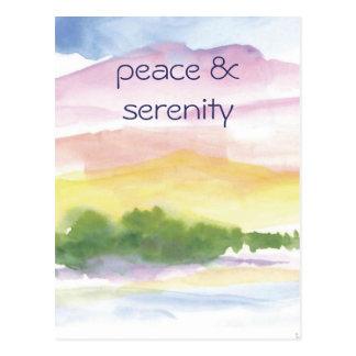 peace &  serenity postcard