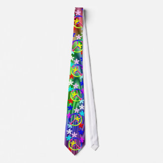 Peace Sgn- Flower Power Necktie