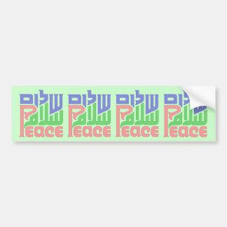 Peace_Shalom_Salaam bumper sticker