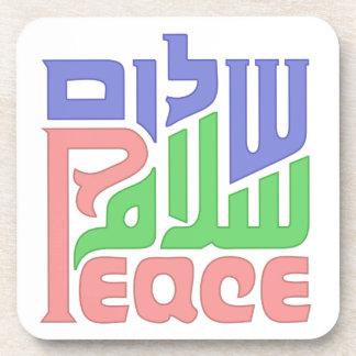 Peace Shalom Salaam coaster