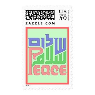 Peace_Shalom_Salaam postage stamp