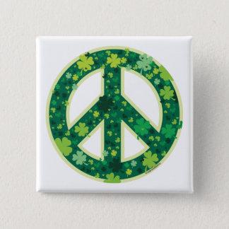 Peace-Shamrock button