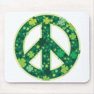 Peace-Shamrock Mouse Mat
